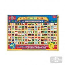 Bandera Madera Magnética...